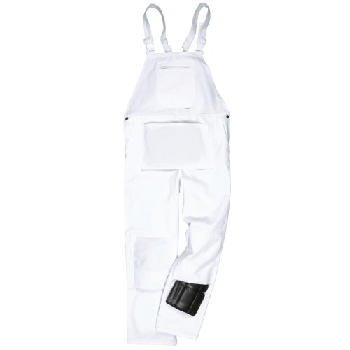 Portwest Unisex Painters Bib & Brace/Workwear (M x Regular) (White)
