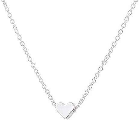2015 Herz Halskette für Damen - Kette mit kleinem Herz-Anhänger, Herzkette  in Gold oder Silber (Gold) (Silber) a44c3c0d0a