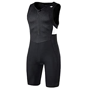 Santic Men's Triathlon Tri Suit Quick Dry Triathlon Runing Swimming Cycling Skin Suit Breathable
