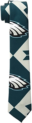 NFL Philadelphia Eagles Men's Patches Ugly Printed Tie, One Size, Green