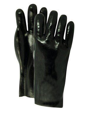 Handmaster Coated Gloves Vinyl Fits All Black Pair