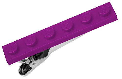 Lego Tie Bar Clip in Gift Box - Made in USA - Plum