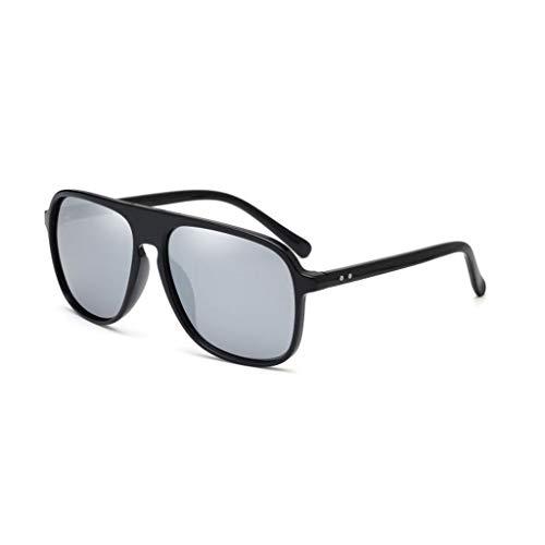 polarizadas Retro Hombres de Box Vogue Marea Gafas New Aviador sol Big para Running B UV 8wwYAFq
