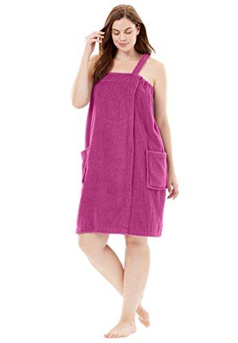 Dreams & Co. Women's Plus Size Towel Wrap