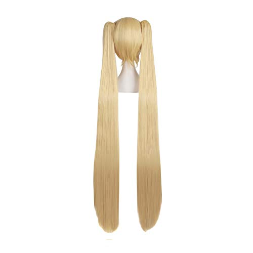 MapofBeauty Blonde Ponytails Party Costume 47Inch 120cm Cosplay Wig