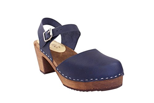 Clogs Sole Stockholm In Navy Brown With Highwood From Swedish Lotta Pn1ftHUFWw
