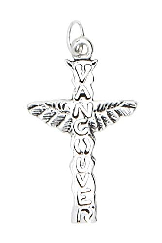 Sterling Silver Vancouver Cross with Wings Charm/Pendant Jewelry Making Supply Pendant Bracelet DIY Crafting by Wholesale Charms -