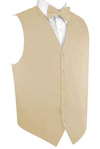 Italian Design, Men's Tuxedo Vest, Bow-Tie & Hankie Set in Champagne - ()