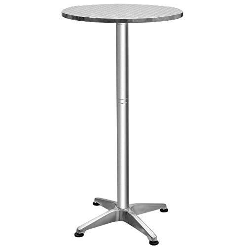 Cypress Shop Foldable Adjustable Aluminium Round Bar Table 23 1/2