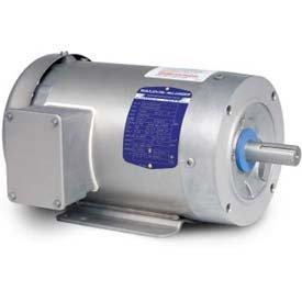 Hp Tenv Motor - Baldor-Reliance Washdown Motor IDCSWDM3615T, 3 Phase, 5 HP, 1750 RPM, 230/460 Volts, TENV, 184TC FR