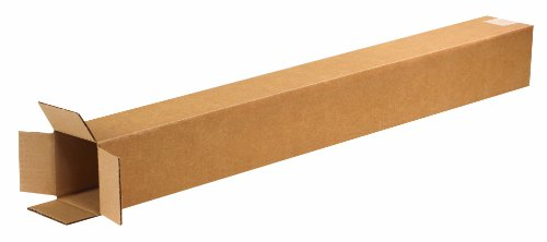 Aviditi 4436 Tall Corrugated Box, 4' Length x 4' Width x 36' Height, Kraft (Bundle of 25)