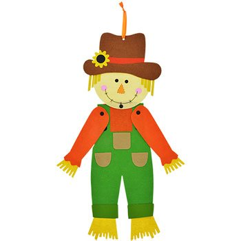 - Fall Autumn Harvest Home Decor ~ Jointed Felt Scarecrow Hanging Decoration Thanksgiving