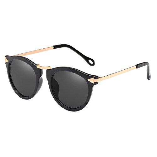 de con de Viajar Libre de Sol Reflectantes Sol de LanLan Estilo Gafas Gafas gafafs Moda Regalo Nuevo Aire Gafas para Gafas Gafas de Color de 2018 de Novedad Gris cumpleaños Film el Tipo de 4x5Zx