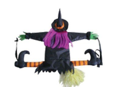 [Betty Bash Crashing Witch Into Tree Halloween Decoration] (Outdoor Witch Decorations)