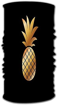 Gcaibai Kopfbedeckung Bandanas Wickelschal Kopftuch Gold Ananas Trendy Design Tropical Fru