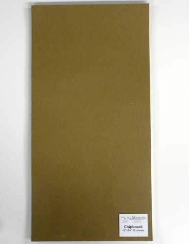 SPC Light Chipboard Sheets 12 x 24 Inches, 25 per Package (Tan-Chip-12-24)