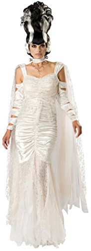 The Bride Of Frankenstein Costume (InCharacter Costumes, LLC Women's Monster Bride Costume, White, Medium)