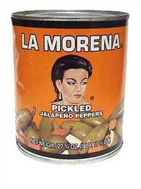 La Morena Whole Jalapenos Peppers, 27 oz.