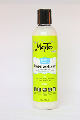 8oz, MopTop Leave-in Conditioner for Fine, Thick, Wavy, Curly & Kinky-Coily Natural hair, Anti Frizz Curl Moisturizer, Definer & Lightweight Curl Enhancer w/ Aloe, great for Dry Hair.