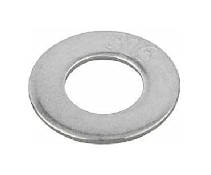 300 Stainless Steel Flat Washer 0.1 OD 0.07 ID #0 Hole Size 0.015 Nominal Thickness Pack of 100