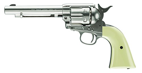 Colt Peacemaker  .177 Caliber Steel BB Air Gun Silver/Blued ()