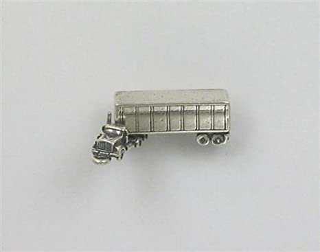 Colgante de plata de ley con diseño de remolque de semi ...