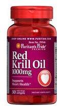 La fierté de puritain Red Krill Oil 1000 mg gélules