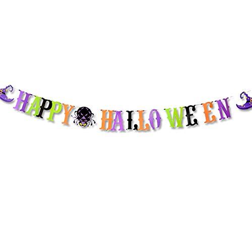 Willsa Halloween Paper Hanging Banner Pull Flower Halloween