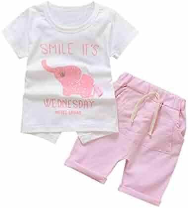 d10c7709f 2Pcs/Set Fashion Toddler Kids Baby Girl Sleeveless T-Shirt Top+Pineapple  Shorts