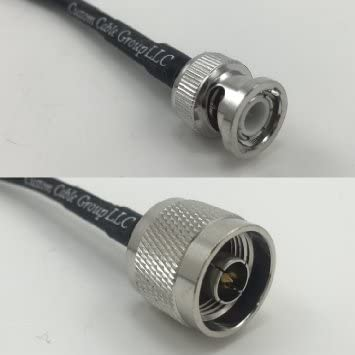 RG142 BNC MALE ANGLE to BNC MALE ANGLE Coaxial RF Coaxial Pigtail Cable USA
