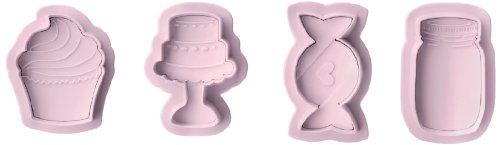 IBILI 788410 - Set 4 cortapastas con expulsor Sweet