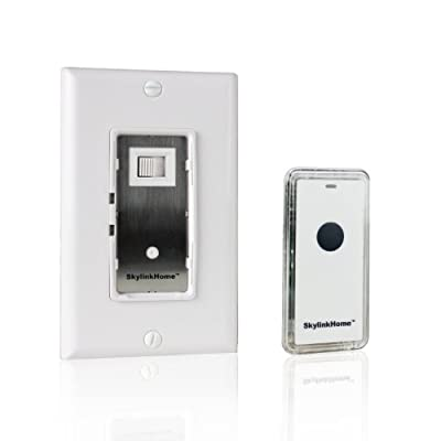 SkylinkHome WR-318 Dimmable Wall Switch with Snap on Remote Lighting Control In-Wall Home Automation Smart Light Receiver, SkylinkNet Compatible Easy DIY Installation without neutral wire (300 Watts)