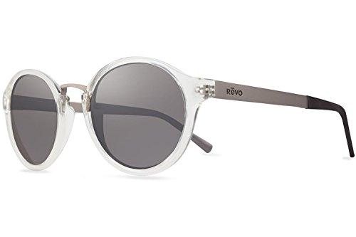 Revo Sunglasses Revo Re 1043 Dalton Crystal Lenses Polarized Round Sunglasses, Shiny Crystal Graphite, 49 - Prescription Sunglasses Revo