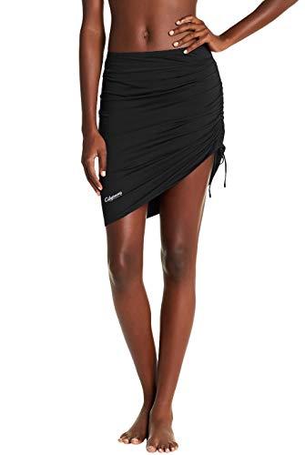 Womens Swim Skirt Waistband Mid Length Skirted Bikini Bottom Cover-up Beachwear 16 ()