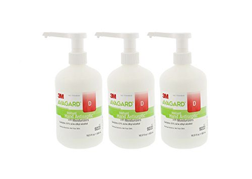 3m Healthcare Sanitizer Hand Gel Avagard D with Moisturizer, 16.9 Oz ,(3 PACK) (3)