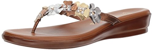 Floral Metallic Sandals - ITALIAN Shoemakers Women's Emina Sandal,