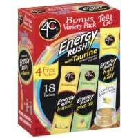 4C Totally Light Energy Rush Tea, 3.35 Ounce