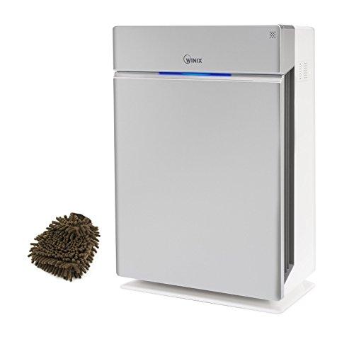 Winix HR1000 True HEPA, Wifi Enabled Air Cleaner, 5-Stage (Complete Set) w/ Bonus: Premium Microfiber Cleaner Bundle