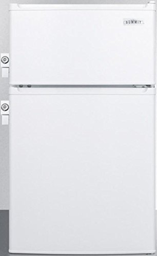 Summit CP351WLLADA 20u0026quot; ADA Compliant Top Freezer Compact Refrigerator  With 2.9 Cu. Ft.