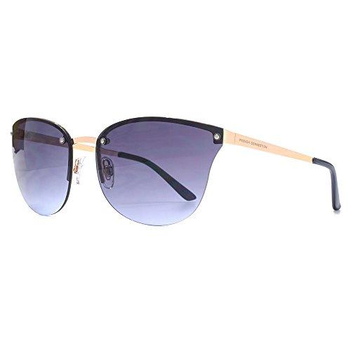 French Connection lunettes de soleil cateye sans monture en or bleu FCU666 Gold Blue Blue Gradient
