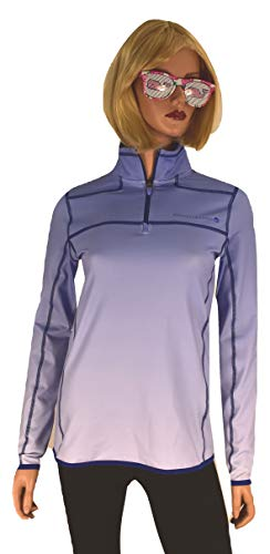 Vineyard Vines Women's Performance Ombre Shep Shirt 1/4 Zip (Periwinkle, Small) (21 Vine)