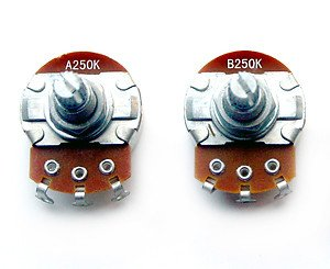 P Bass Guitar Pot Set 250K Full Size Pots Potentiometers Volume ...