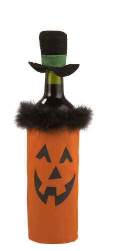 Jack-O'-Lantern Wine Bottle Gift Bag - Ganz Halloween Wine Bottle (Wine Bottle Costume)