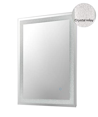 MAGGIIC Crystal Inlay UL Listed 28 x 36 Inch Horizontal&Vertical Dimmable LED -