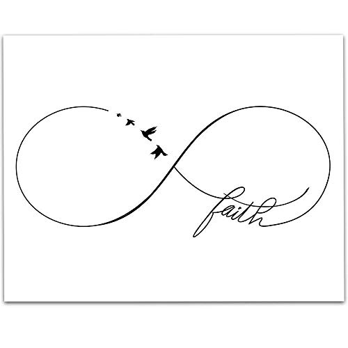 Faith Infinity Symbol Wall Art - 11x14 Unframed Art Print - Great Inspirational Gift Under $15 ()