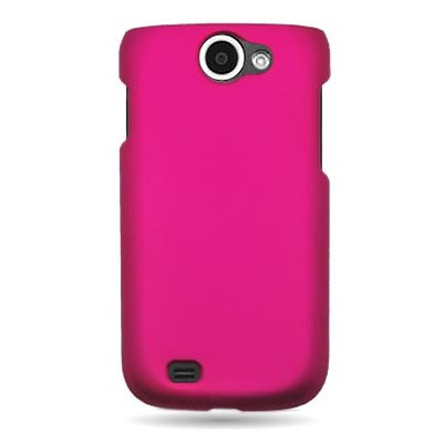 (For Samsung Exhibit II 4G / Galaxy Exhibit 4G T679 - Hard Snap On Case Slim Rubberized Plastic Cover by CoverON - Rose Pink)