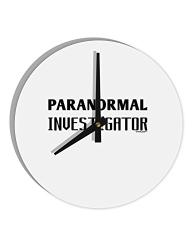 TooLoud Paranormal Investigator 8'' Round Wall Clock by TooLoud