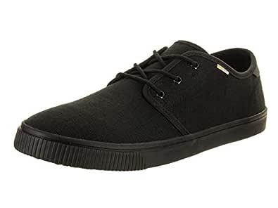 Toms Men's Carlo Burlap Sneaker, 8 D(M) US, Blk/Black Heritage Canv