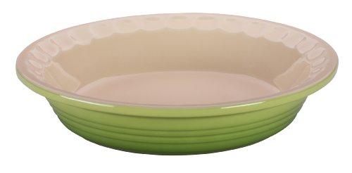 Le Creuset Stoneware Pie Dish, 9-Inch, (Scalloped Pie Dish)