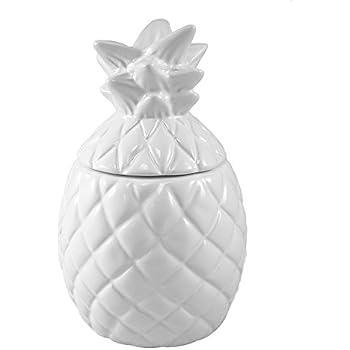 DEI 60397 Ceramic Jar, 4.25 x 4.25 x 8.0, White